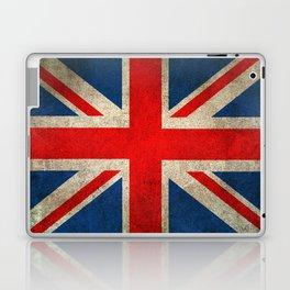 Old and Worn Distressed Vintage Union Jack Flag Laptop & iPad Skin