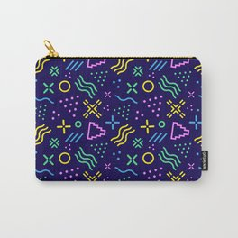 Retro 80s Shapes Pattern Carry-All Pouch