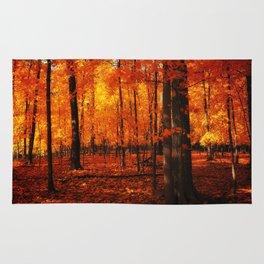 Fall Trees (orange) Rug