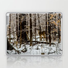 Deer in the Glistening Forest by Teresa Thompson Laptop & iPad Skin