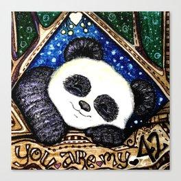 My Sleepy Panda 42 Canvas Print