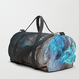Deep Blue Marble - Ombre black Duffle Bag