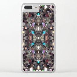 Macro Glitter Clear iPhone Case