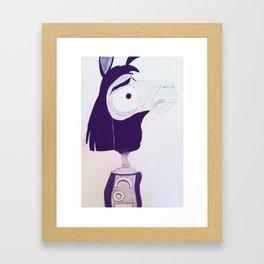 Llama Kuzco Framed Art Print