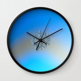 Snowflake photo - Gardener's dream Wall Clock