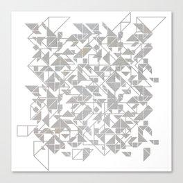Silver tangram triangle mix Canvas Print