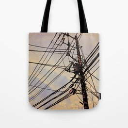 wires up Tote Bag