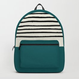 Dark Turquoise & Stripes Backpack