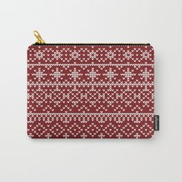 Christmas red pattern Carry-All Pouch