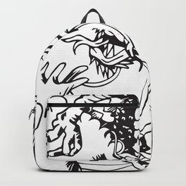 Oriental Dragon Line Art Backpack