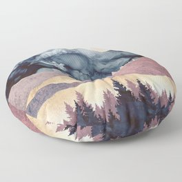Mauve Vista Floor Pillow