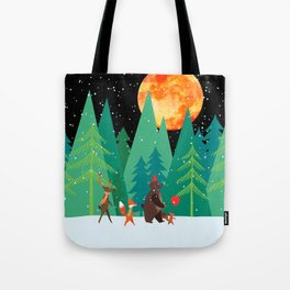 Take a walk under the moon Tote Bag