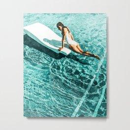 Pool Day #society6 #painting #summer Metal Print