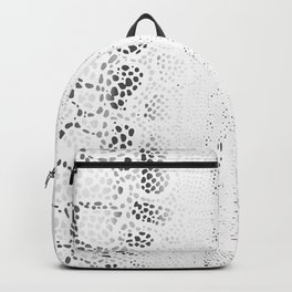 White Snake Skin Backpack
