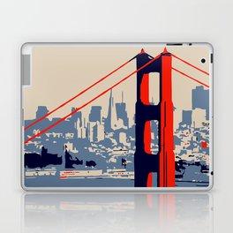 Golden gate bridge vector art Laptop & iPad Skin