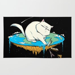 Flat Earth Cat Rug