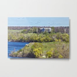 Mansion on the island Metal Print