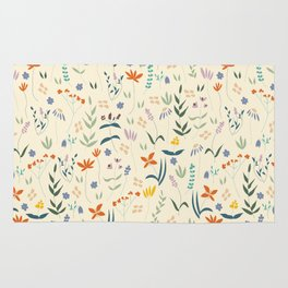 Retro Botanical Rug