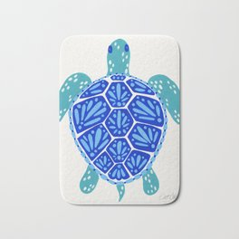 Sea Turtle – Blue Palette Bath Mat