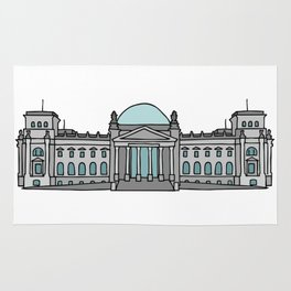 Reichstag building in Berlin Rug