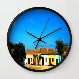 Sardinian little village Wall Clock