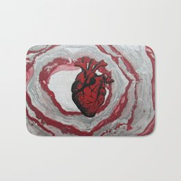 3 Visions Art Heartbeat Bath Mat