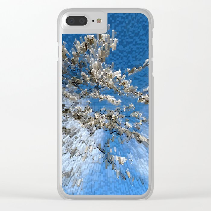 Apple blossom time Clear iPhone Case