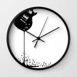 Bubbling Musical Notes Wall Clock
