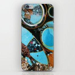 Majolica and Hydrangea iPhone Skin