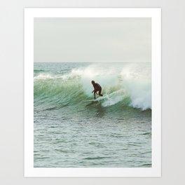 Sunset Surfer 001 Art Print