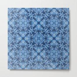 Blue floral ornament. Metal Print