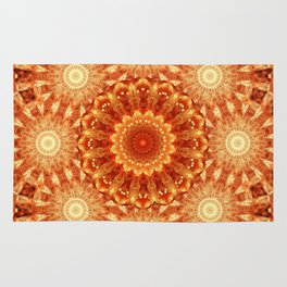 Heart of Fire Mandala Rug