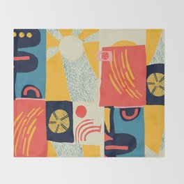 Suns Scandinavian Design Throw Blanket