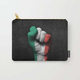 Italian Flag on a Raised Clenched Fist Carry-All Pouch