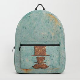 Rusty coffee shop sign Backpack