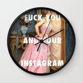 Instagram Wall Clock