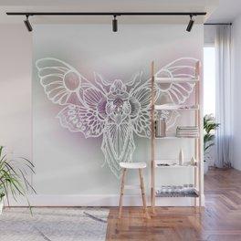 Botanical Moth, Moth Art, Succulent Hues Wall Mural