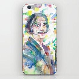 SALVADOR DALI - watercolor portrait.2 iPhone Skin