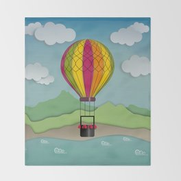 Balloon Aeronautics Sea & Sky Throw Blanket