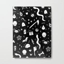 SPOOKY HALLOWEEN! - PATTERN Metal Print