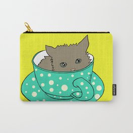 Kitten In A Teacup Carry-All Pouch