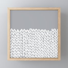 Half Knit Grey Framed Mini Art Print