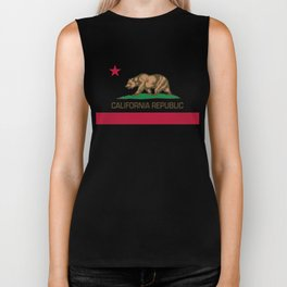 California Republic Flag - Bear Flag Biker Tank
