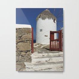 Island Myconos, Greece Metal Print