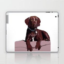 Chocolate Labrador Laptop & iPad Skin