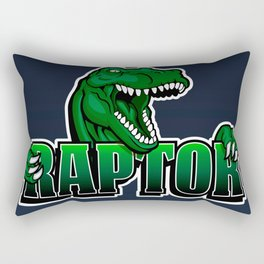 cartoon raptor Rectangular Pillow