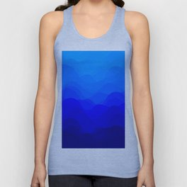 Blue Waves Unisex Tank Top