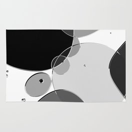 Circle Series - Chrome Rug