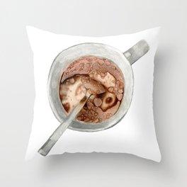 Breakfast mug Throw Pillow