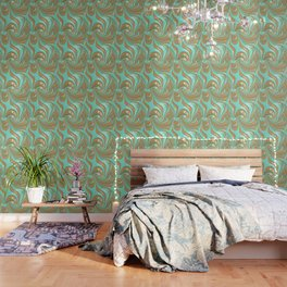 Turquoise Caramel Wallpaper